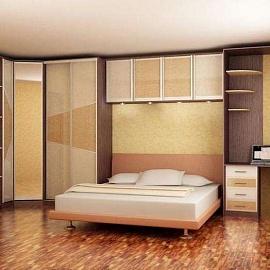навесные шкафы для спальни фото